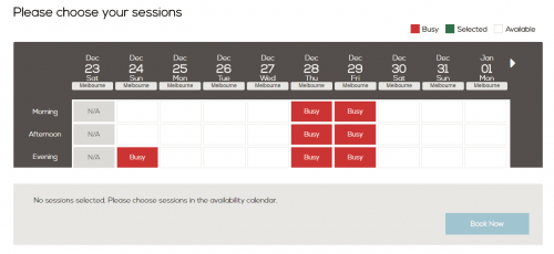piloroo availability calendar